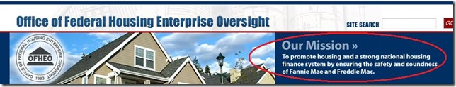 Office of Federal Housing Enterprise Oversight -- their mission