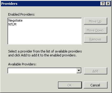 IIS7 comes with Negotiate (Kerberos) and NTLM providers for Windows Authentication